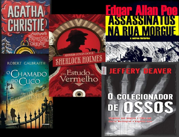 livros de detetives, Dicas de Livros de Detetives